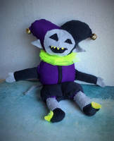 Homemade Jevil Plushie - Deltarune by Eve-aCatty