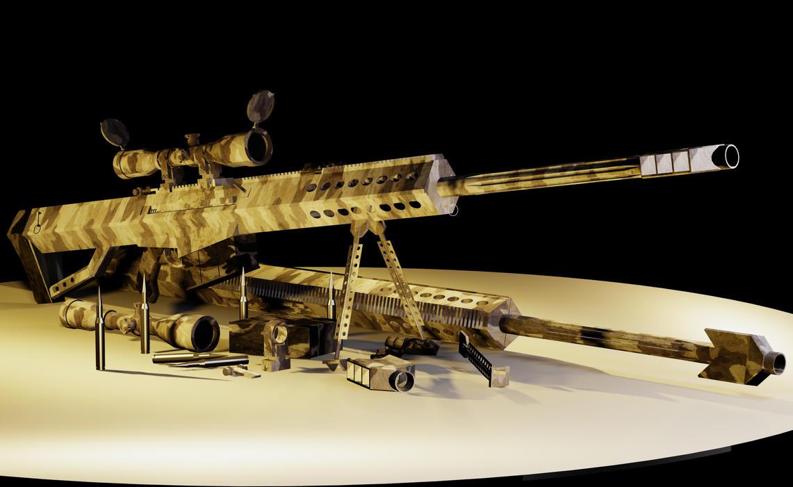 Barrett M107 .50 Caliber Snipe by nick-tyrrell