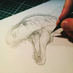 Acrocanthosaurus Sketch (UNFINISHED)