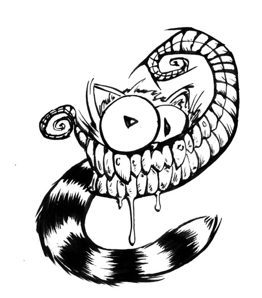 alice preview cheshire cat by renonevada on deviantart - Cheshire Cat Smile Coloring Pages