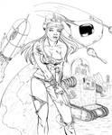 30's Spacegirl Pinup