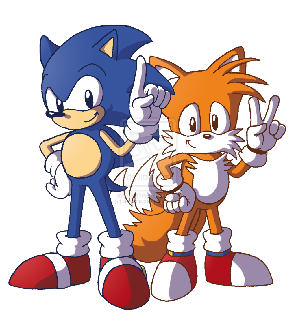 sonic and tails art 2 colored by ethandeffes on deviantart