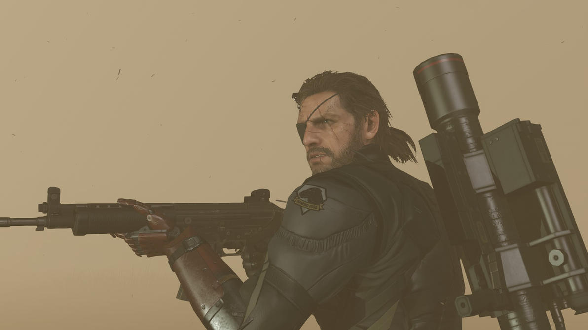 MGS V Snake in sandstorm by Para2029