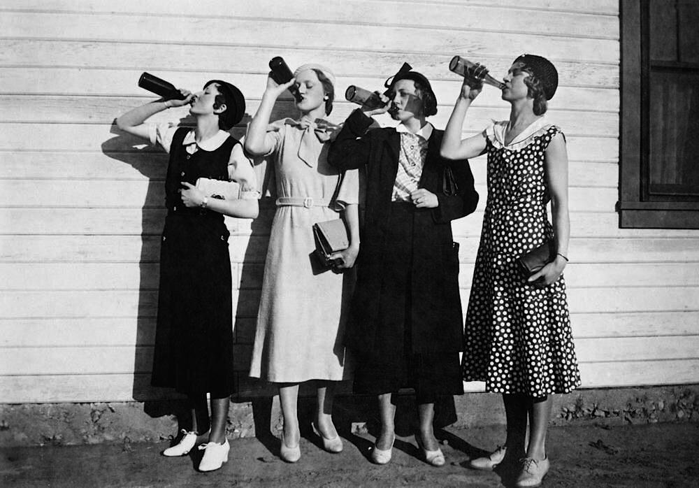 Flappers drinking bootleg alcohol, US, 1925 Origin by SteSutts on