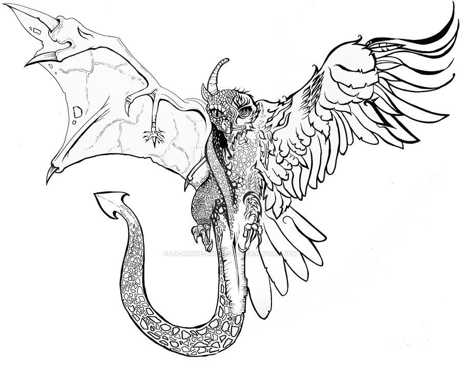 Eagle Vs Dragon Drawing Dragon Evolved to Gold Eagle