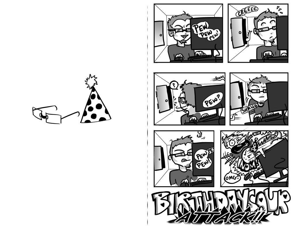 Birthday Card Comic by lamorteamoreuse on DeviantArt – Comic Birthday Greetings