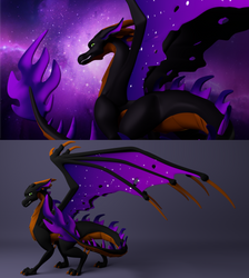 Sevour the Space Dragon by Farminilla