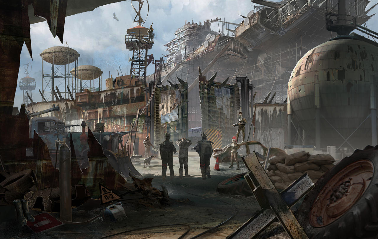 """""""Lobo"""" solitário. Post_apocalyptic_village_02_by_artofchen-d8ekzcb"""
