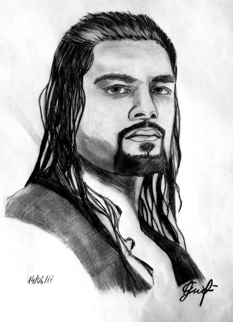 roman reigns drawing pictures to pin on pinterest thepinsta