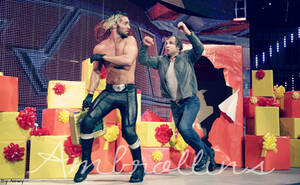 Dean Ambrose and Seth Rollins by Dixonija