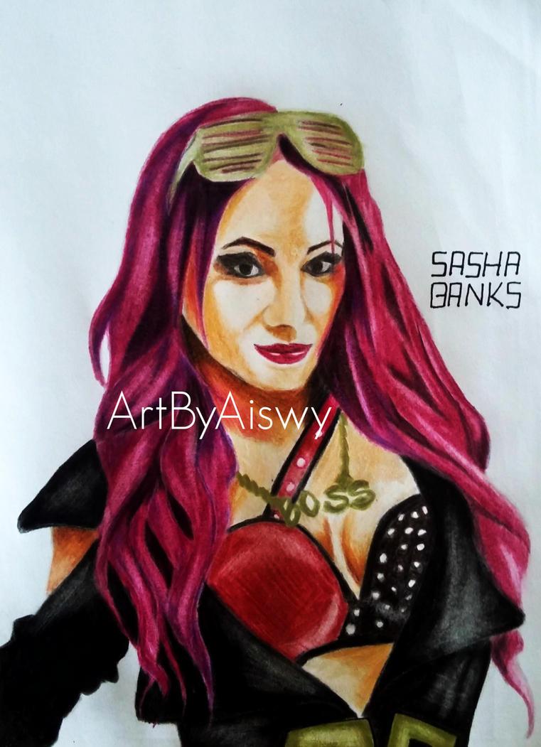 Sasha Banks by Aiswy by Dixonija
