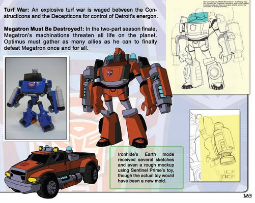 Transformers Animated - Ironhide Concept Art