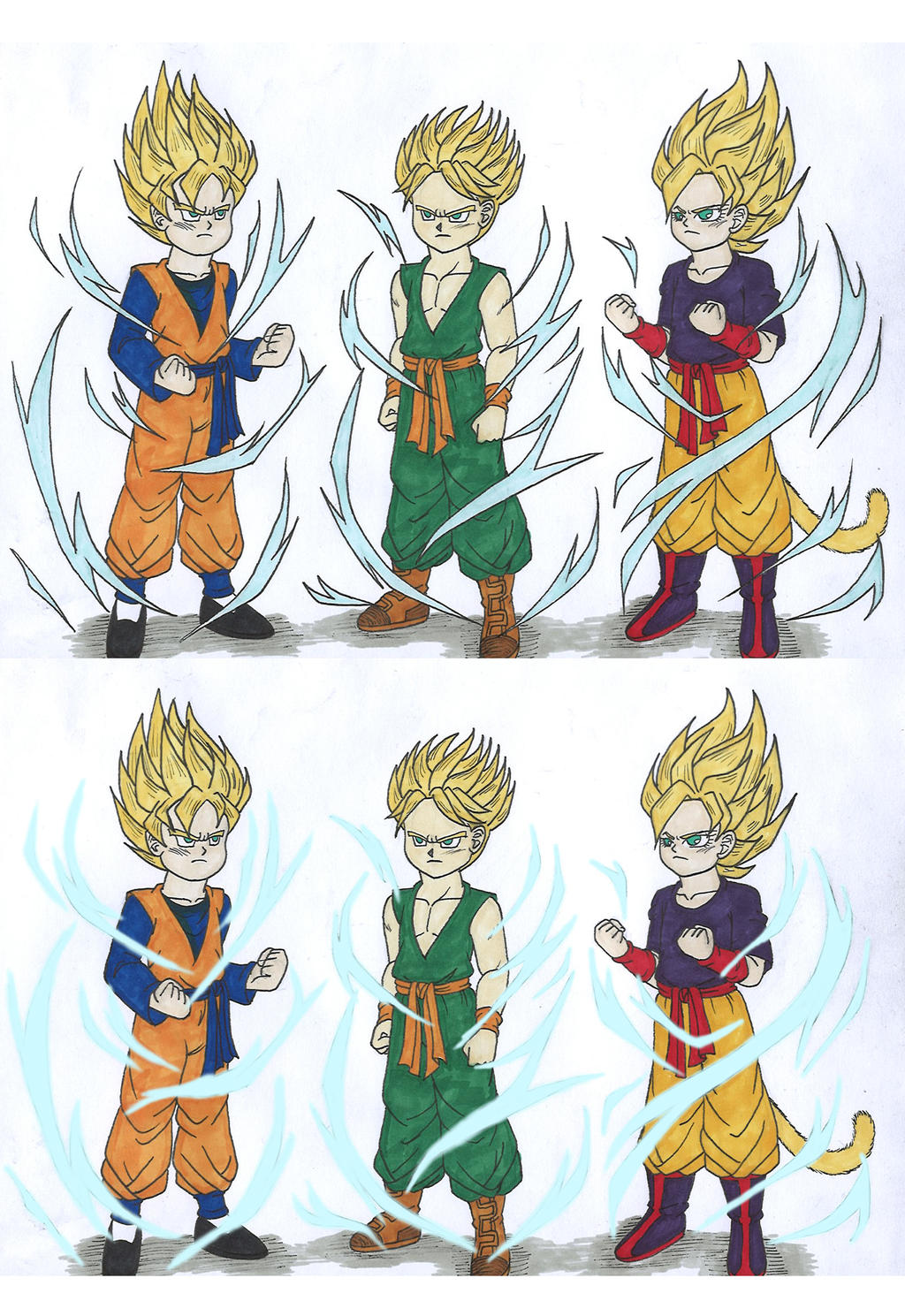 Db saiyan kids super saiyan 2 by isabellafaleno on for Db ranch