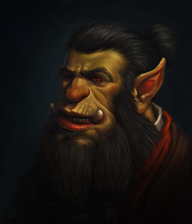 Orc Portrait by dobsun