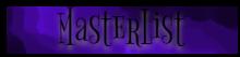 Masterlist Banner~ by Drathemeir