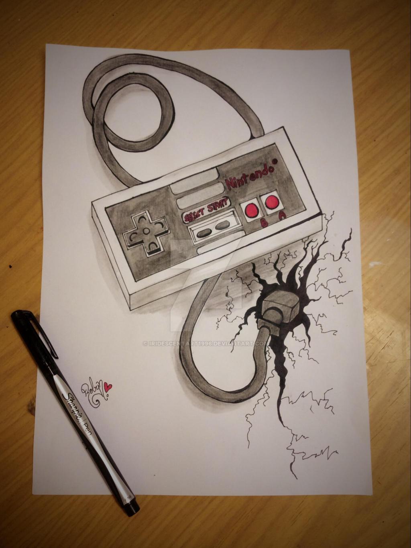 Nintendo Controller Tattoo Design