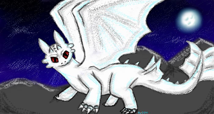 Albino Night Fury by Captain-Clover on DeviantArt