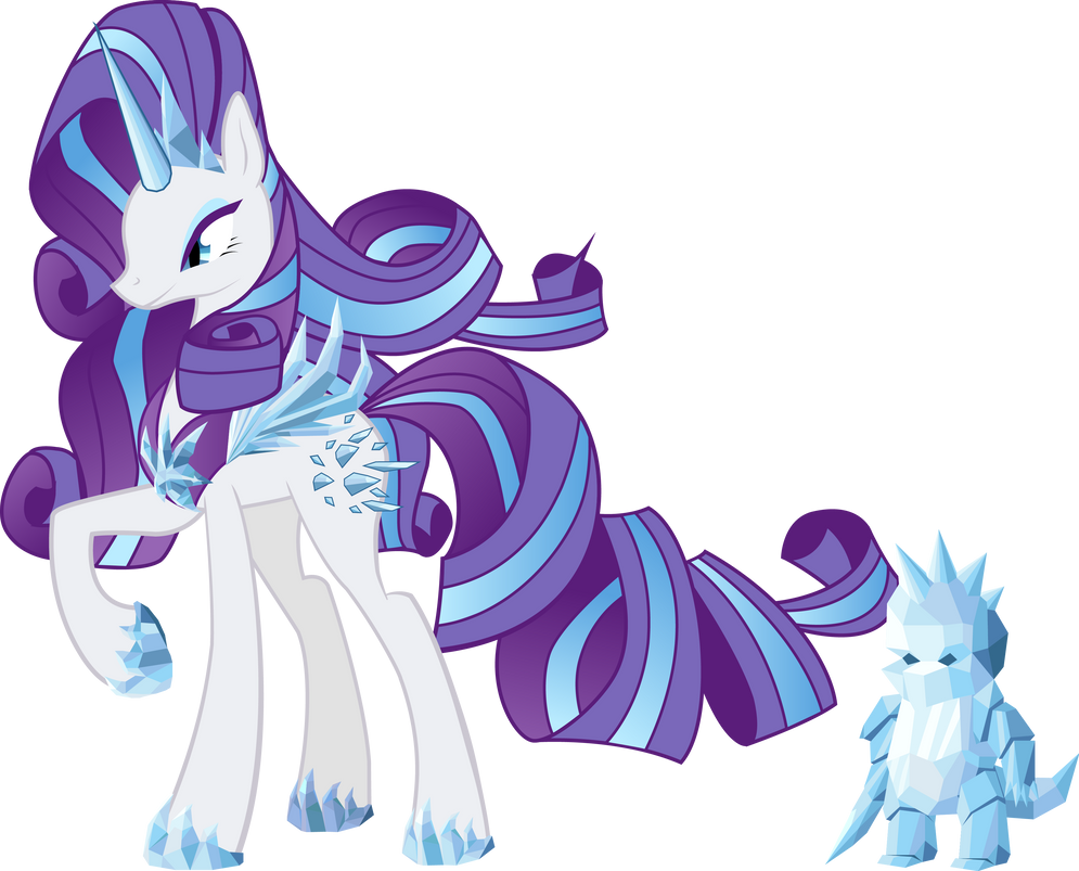crystal queen evil rarity and his hypnosed spike by