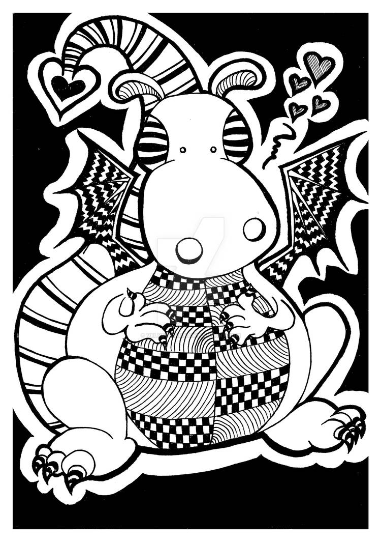 Cute dragon doodle