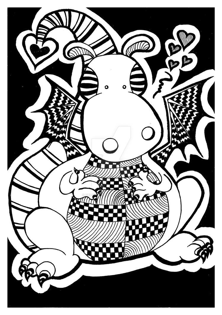 Cute dragon doodle by velvet-child