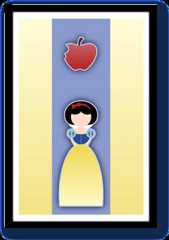 Minimalist Disney Princess Snow White