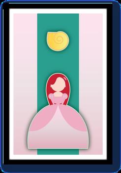 Minimalist Disney Princess Ariel -Little Mermaid