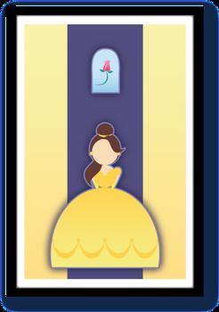 Minimalist Disney Princess Belle