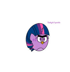 My Little Pony-Angry Birds - Twilight Sparkle by worldofcaitlyn