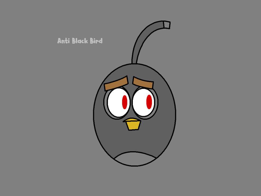 Angry Birds - Anti Black Bird by worldofcaitlyn on DeviantArt