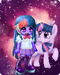Twilight Sparkle Human and Pony in Gaia by worldofcaitlyn