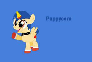 UNKYXMLP - Puppycorn as a pony by worldofcaitlyn