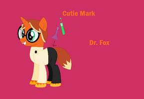 UNKYXMLP - Dr. Fox as a pony by worldofcaitlyn