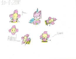 UNKY - Were-FeeBee Doodles by worldofcaitlyn