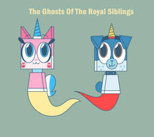 UNKY - Ghost!Unikitty And Ghost!Puppycorn by worldofcaitlyn