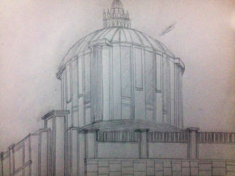 Building Drawing (Museum) by 7H3D3M0NL0RD