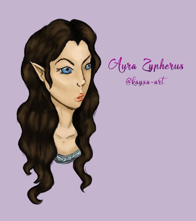 OC - Portrait of Aura Zypherus - 1 by kaysa-art