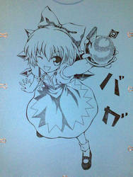 T-shirt Cirno with Snowice by ranalez