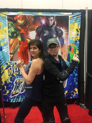 Me with Jennifer hale by rpg9386