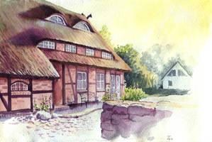 half-timbered house by jennomat