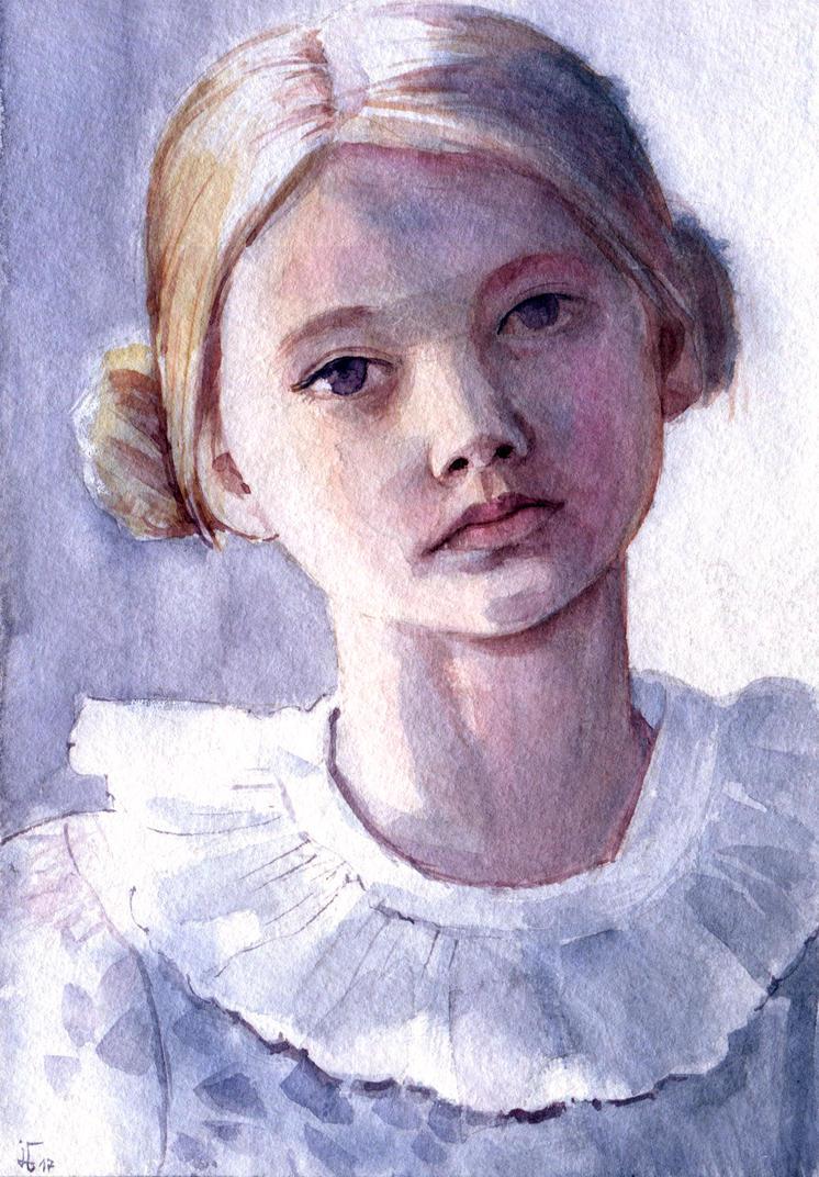 girl portrait II by jennomat