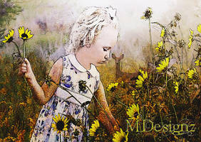 Small Field Of Flowers and Friends by 33M