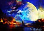 Moon Gazes At Me Through Sprinkled Stardust