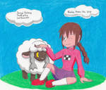 Madotsuki and Wooloo by LeafGreen1924