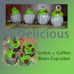 Coffee Beans on cupcakes
