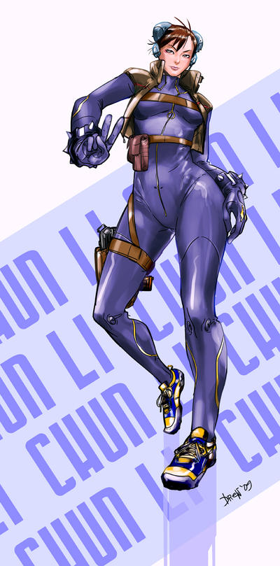 Chun Li alternate costume by anchan