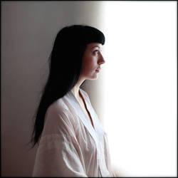 Un profil de Mlle K. by Renoux