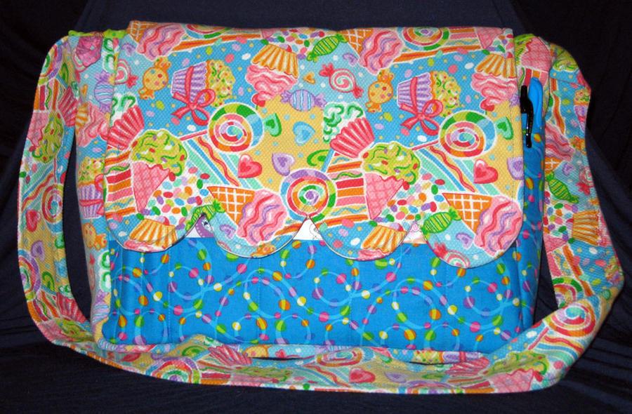 sweet tooth plush messenger diaper bag by garnetbear on deviantart. Black Bedroom Furniture Sets. Home Design Ideas