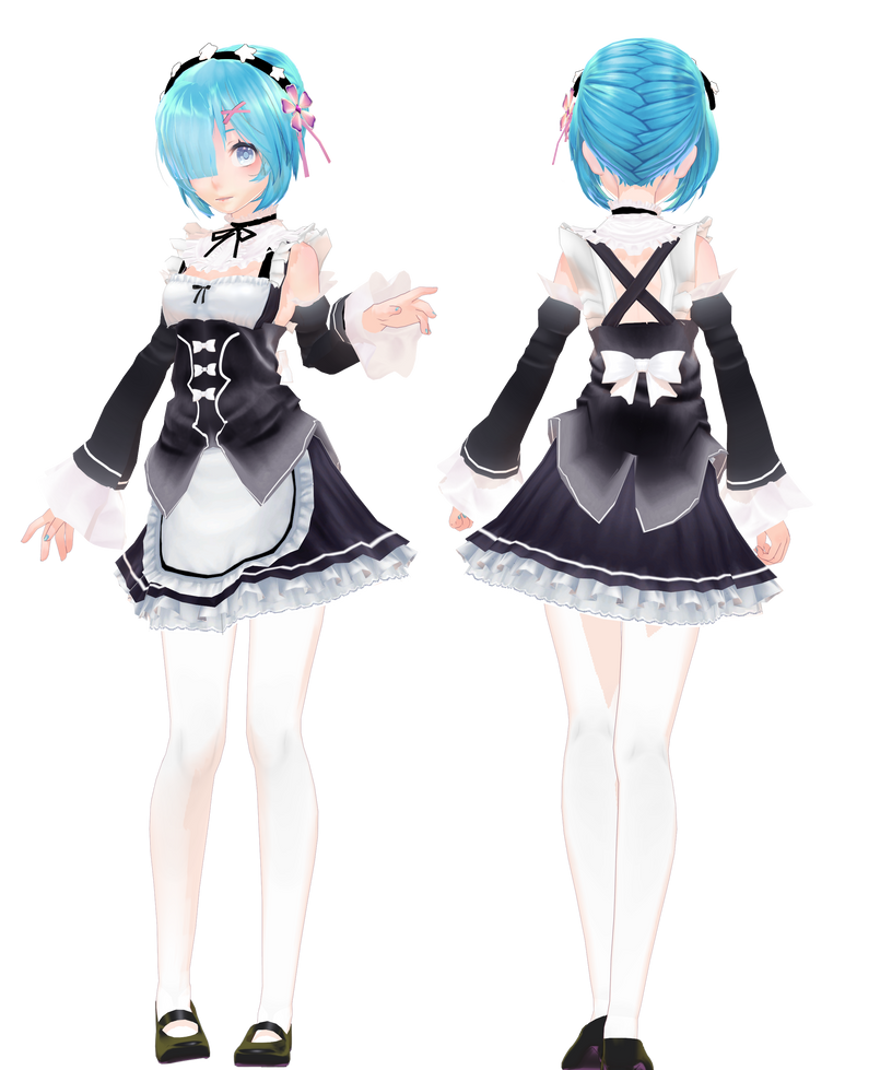 image 3d mmd rezero rem big boobs amp ass destination unknown