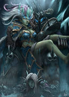 Frost Lich Jaina Fanart: The Frozen Throne. by ArtofWeiHan