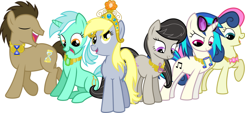 The Background Mane 6 Elements of Harmony by jaybugjimmies on DeviantArt